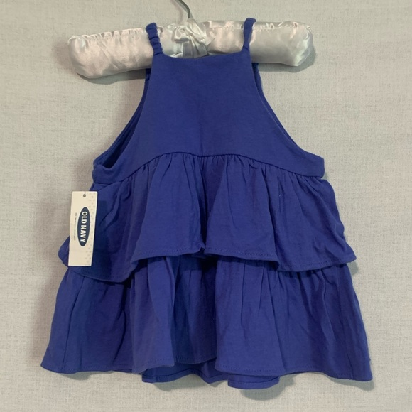 Old Navy Blue Tiered Strappy Dress Sz 2T